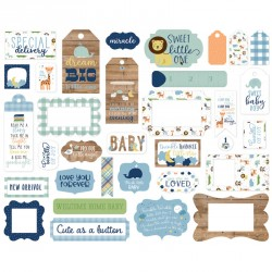 Baby Boy Frames & Tags Die Cut Cardstock Pieces Echo Park