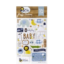 Baby Boy Adhesive Puffy Stickers Echo Park