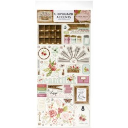 "Farmhouse Market 6""x12"" Adhesive Chipboard Accents Carta Bella"