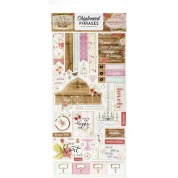 "Farmhouse Market 6""x12"" Adhesive Chipboard Phrases Carta Bella"