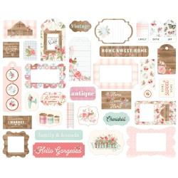 Farmhouse Market Frames & Tags Die Cut Cardstock Pieces Carta Bella