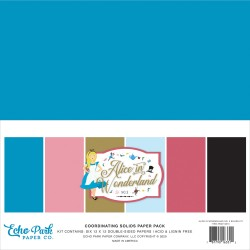 "Alice in Wonderland No. 2 Coordinating Solids Paper Pack 12"" x 12"" Echo Park"