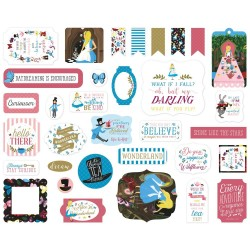 Alice in Wonderland No. 2 Ephemera Die Cut Cardstock Pieces Echo Park