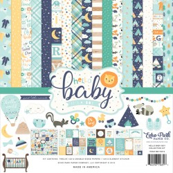 "Hello Baby It's a Boy 12""x12"" Collection Kit Echo Park"
