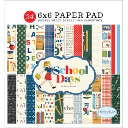 "School Days Paper Pad 6""x6"" Carta Bella"