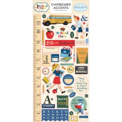 "School Days 6""x12"" Adhesive Chipboard Accents Carta Bella"