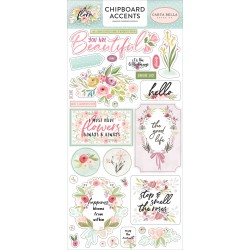 "Flora n. 3 6""x12"" Adhesive Chipboard Accents Carta Bella"