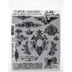 "Urban Elements Rubber Stamp Set 7""x8,5"" by Tim Holtz Stampers Anonymus"
