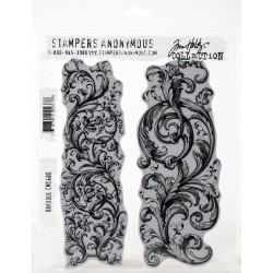 "Baroque Rubber Stamp Set 7""x8,5"" by Tim Holtz Stampers Anonymus"