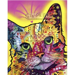 Tilt Cat 1 Rubber Stamp Stamplistic