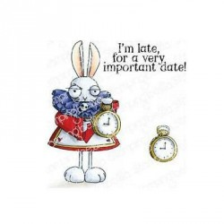 White Rabbit Cling Stamp The Oddball Collection Stamping Bella