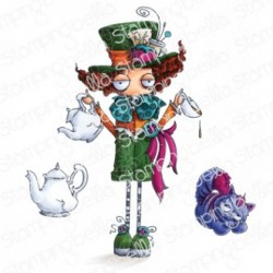 The Mad Hatter Cling Stamp The Oddball Collection Stamping Bella