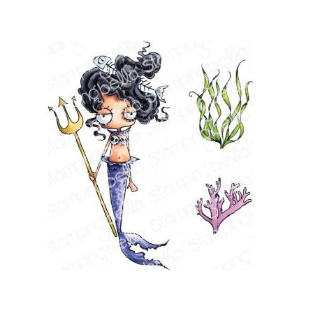 Mermaid Set Cling Stamp The Oddball Collection Stamping Bella