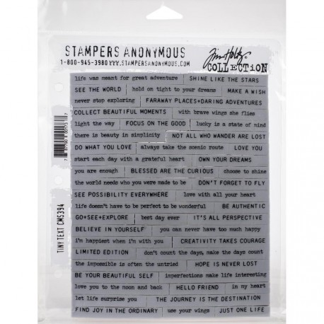 "Tiny Text Stamp Set 7""x8,5"" by Tim Holtz Stampers Anonymus"