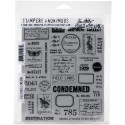 """Field Notes Stamp Set 7""""x8,5"""" by Tim Holtz Stampers Anonymus"""