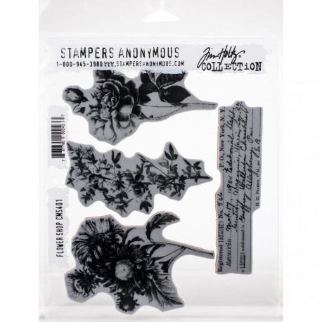 "Flower Shop Stamp Set 7""x8,5"" by Tim Holtz Stampers Anonymus"