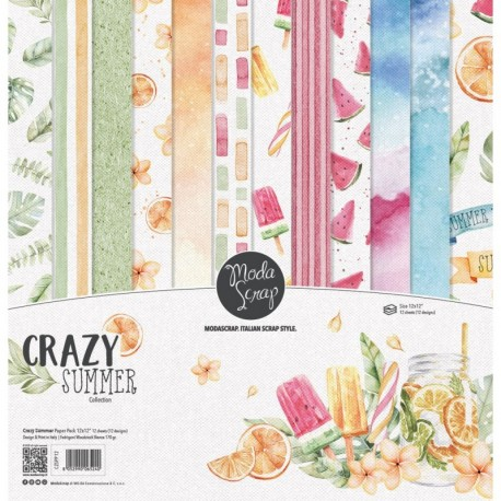 "Crazy Summer 12x12"" Paper Pack ModaScrap"