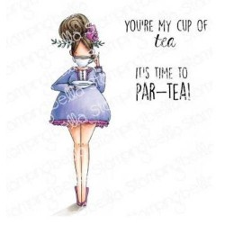 Loves Tea Curvy Girl Collection Cling Stamps Stamping Bella