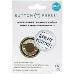 Button Press Adhesive Magnets We R Memory Keepers