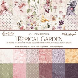"""Tropical Garden 6""""x6"""" Collection Pack"""