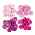 Pink Eyelets Wide