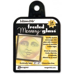 "Frosted Memory Glass 2""x2"""