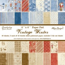Vintage Winter Paper Pad Maja Design