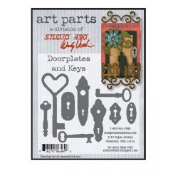 Doorplates and Keys Art Parts Chipboard Studio 490 Wendy Vecchi