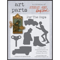 For The Guys Art Parts Chipboard Studio 490 Wendy Vecchi