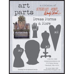 Dress Forms and More Art Parts Chipboard Studio 490 Wendy Vecchi