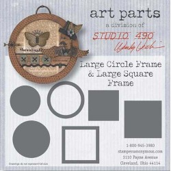 L Circle Frame L Square Frame Art Parts Chipboard Studio 490 Wendy Vecchi