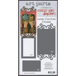 Large Flourish Frames Art Parts Chipboard Studio 490 Wendy Vecchi